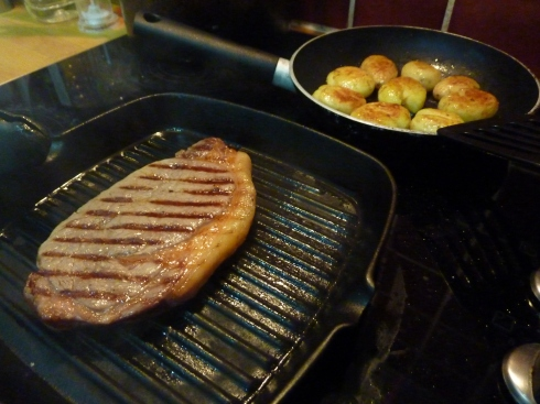 Cooking steak
